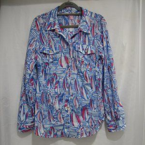 Lilly Pulitzer 10 Red Right Return Cruiser Shirt
